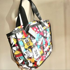 Disney Mickey and friends zip colorblock tote bag